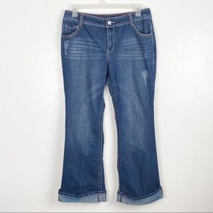 Lane Bryant Flare Style Cropped Jeans